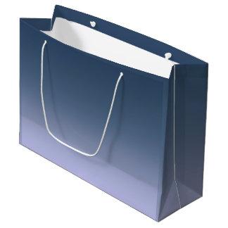 青ピンクのグラデーション。 ラージペーパーバッグ