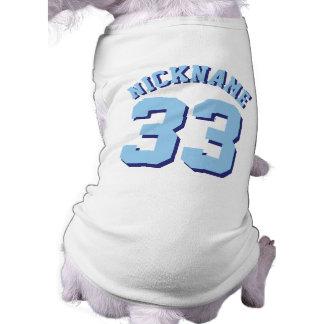 青ペット 犬のスポーツのジャージーの白い及びデザイン ペット服