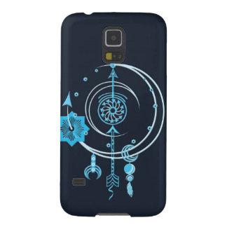 青ポイント抽象芸術のSmartphoneの場合 Galaxy S5 ケース