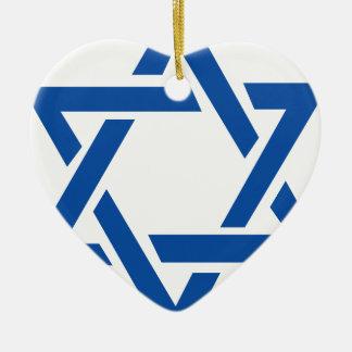 青ユダヤ人のダビデの星 セラミックオーナメント