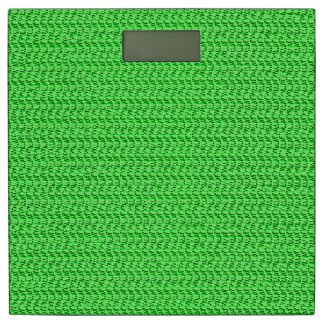 青リンゴ色の織り方の網の一見 体重計