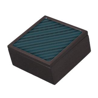 青上品でカスタムで暗い水及び海軍は縞で飾ります ギフトボックス