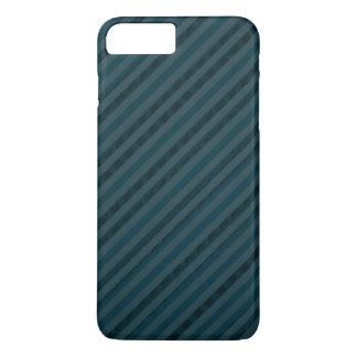 青上品でカスタムで暗い水及び海軍は縞で飾ります iPhone 8 PLUS/7 PLUSケース