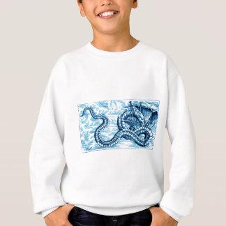 青写真のシーサーペントのむさぼり食う船= スウェットシャツ