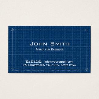 青写真の石油エンジニアの名刺 名刺