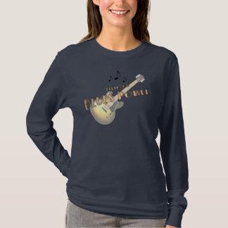 青力の女性長袖のワイシャツ Tシャツ