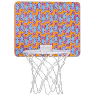 青及びオレンジのハワイのビーチサンダル ミニバスケットボールゴール
