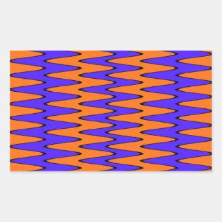 青及びオレンジ目の錯覚 長方形シール