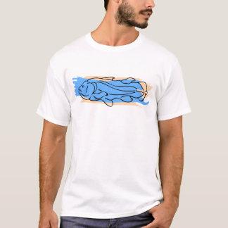 青及びオレンジCoelacanth Tシャツ