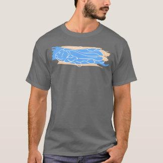 青及びタンとのCoelacanth Tシャツ