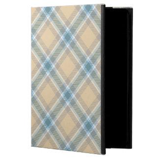 青及びタンの格子縞のiPadの空気またはAir2場合 Powis iPad Air 2 ケース