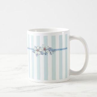青及びホワイトクリスマスのコーヒー・マグ コーヒーマグカップ
