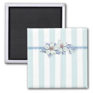 青及びホワイトクリスマスの磁石 マグネット