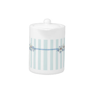 青及びホワイトクリスマスの茶ポット