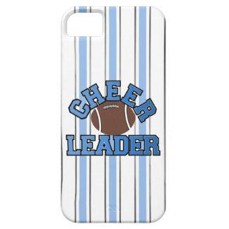 青及び白いフットボールのチアリーダーのiPhone 5の箱 iPhone SE/5/5s ケース