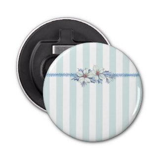 青及び白い円形のクリスマスの栓抜き 栓抜き