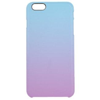 青及び紫色のグラデーション クリア iPhone 6 PLUSケース