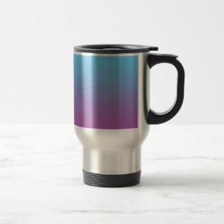 青及び紫色のグラデーション トラベルマグ