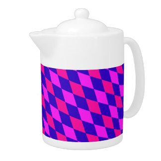 青及び紫色の~のダイヤモンドパターン