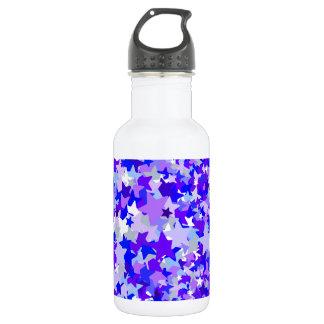 青及び紫色紙吹雪パターンを主演します ウォーターボトル