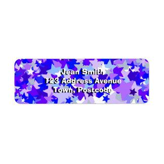 青及び紫色紙吹雪パターンを主演します ラベル