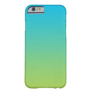 青及び緑のグラデーション BARELY THERE iPhone 6 ケース