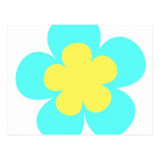 青及び黄色の花 ポストカード
