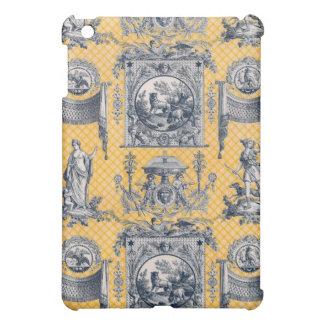 青及び黄色新古典主義のフランスのな国Toile iPad Miniケース
