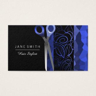 青及び黒いガーリーなバラはデザインを切ります 名刺