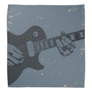 青及び黒く素朴なギター奏者 ハンカチーフ