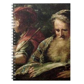 青年および年齢(パネルの油) ノートブック