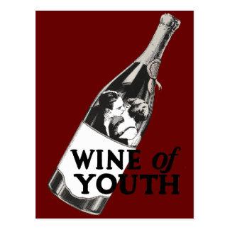 青年のワイン ポストカード