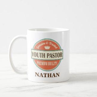 青年牧師の名前入りなオフィスのマグのギフト コーヒーマグカップ