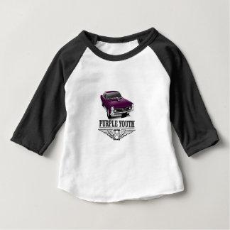 青年紫色の乗車 ベビーTシャツ
