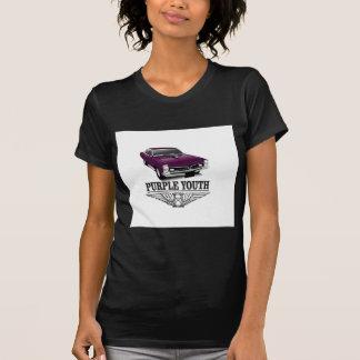 青年紫色の乗車 Tシャツ