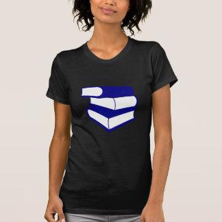 青書の積み重ね Tシャツ