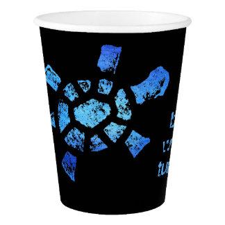 青海原のカメの美しいの飲み物 紙コップ