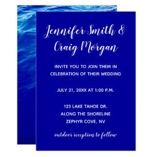 青海原のモダンな書道の結婚式 カード