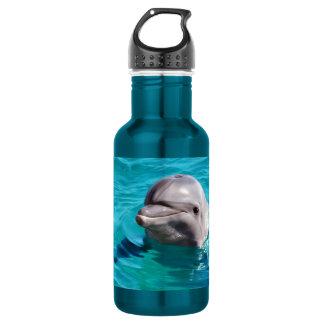 青海原の写真のイルカ ウォーターボトル