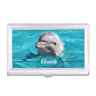青海原の写真のイルカ 名刺ケース