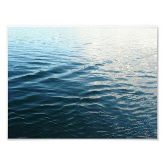 青海原の抽象芸術の自然の写真撮影の陰 フォトプリント