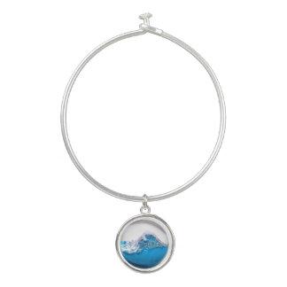 青海原の海洋波の円形のチャームの腕輪のブレスレット バングルブレスレット