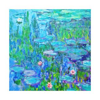 青海原ユリの池のMonetの新しいファインアート キャンバスプリント