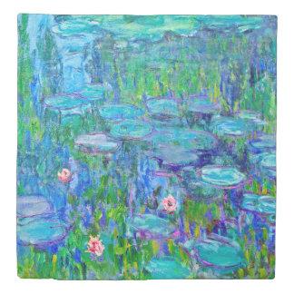 青海原ユリの池のMonetの新しいファインアート 掛け布団カバー