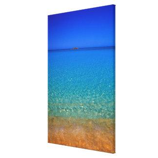 青海原、Exumaの島、バハマ キャンバスプリント