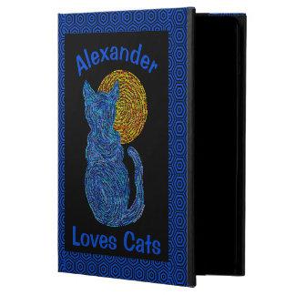 青猫および月の猫好きのネコ科の子ネコ iPad AIRケース