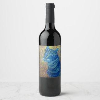 青猫のワインのラベル ワインラベル