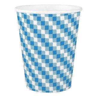 青白の正方形の背景 紙コップ