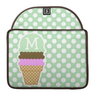青磁の緑の水玉模様; アイスクリームコーン MacBook PROスリーブ