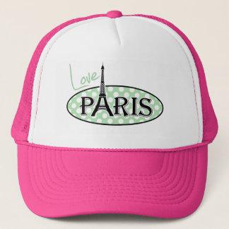 青磁の緑の水玉模様; パリ キャップ